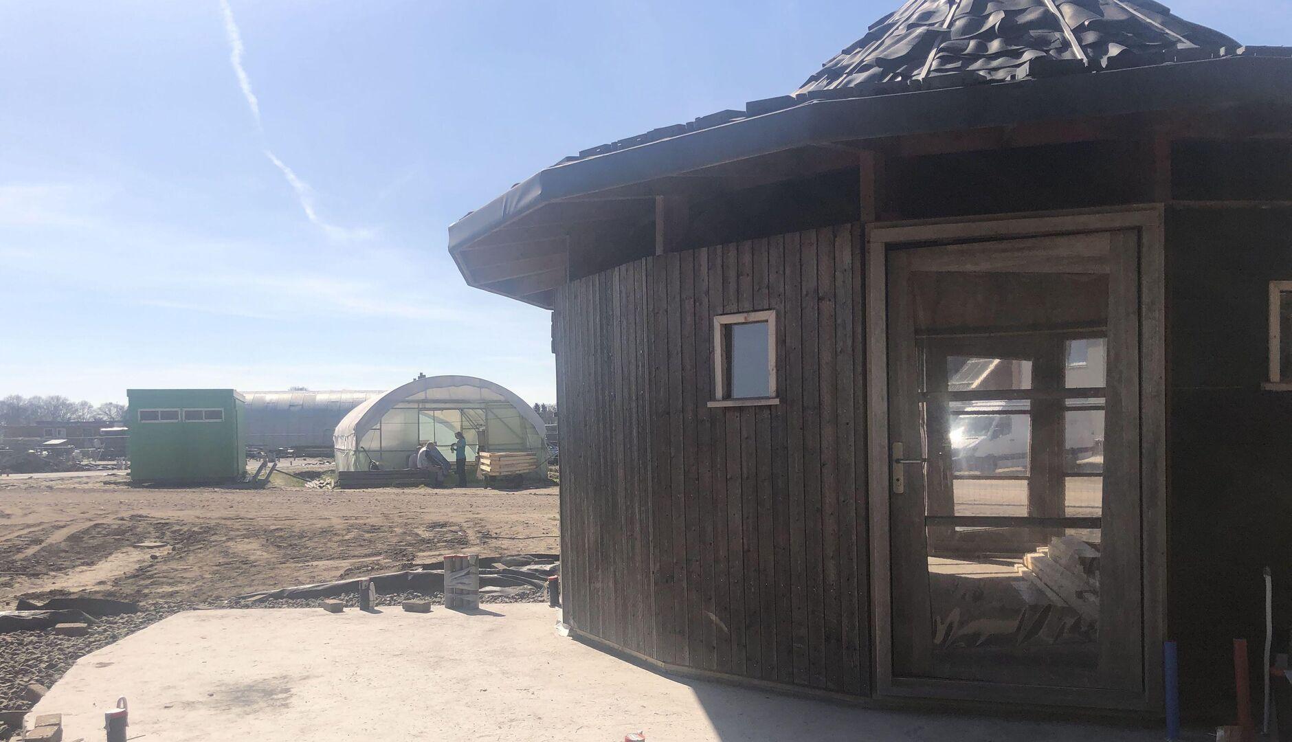 Artist in Residence (AiR) van Ecodorp Boekel in aanbouw