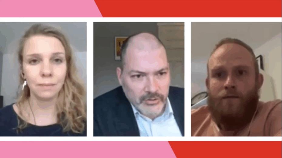 Eva Akerboom (Partij voor de Dieren) in gesprek met Peter Kwint (SP)