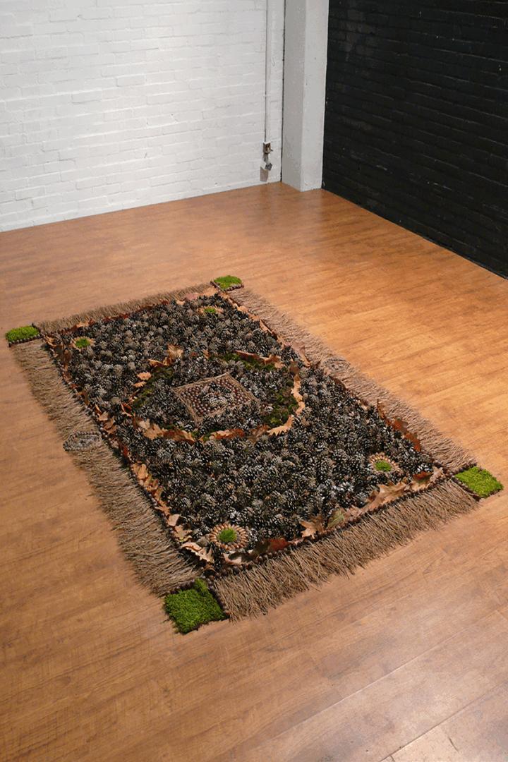 Forest Carpet maakte deel uit van de tentoonstelling 'Instant Nature' tijdens de Dutch Design Week 2009