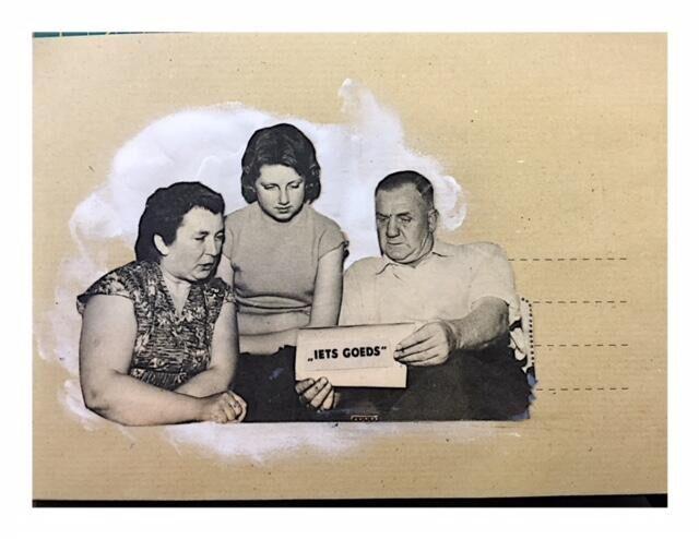 Het gezin Schomp-Tuyt weet zich geen raad met de oppepper die zij in de brievenbus aantroffen.