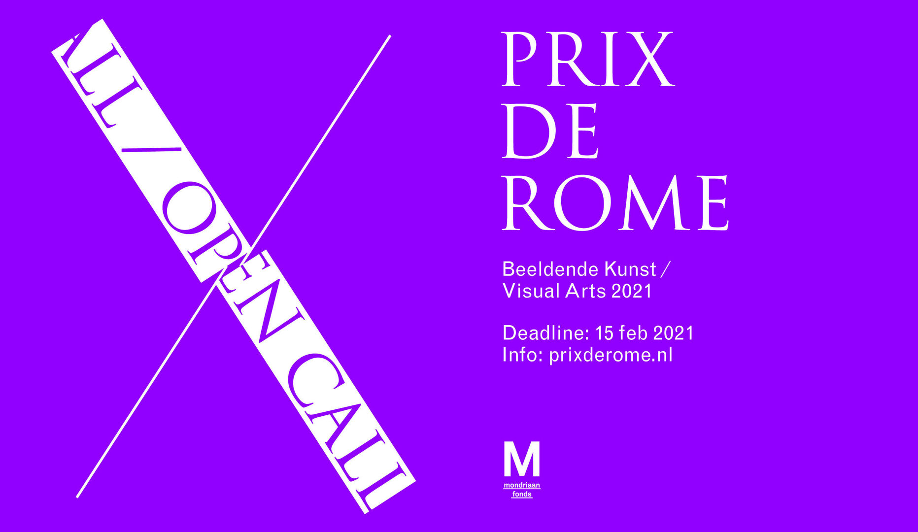 Open Call: Prix de Rome Kunst 2021