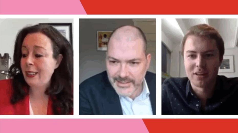 Salima Belhaj (D66) in gesprek met Julian Bushoff (PvdA)
