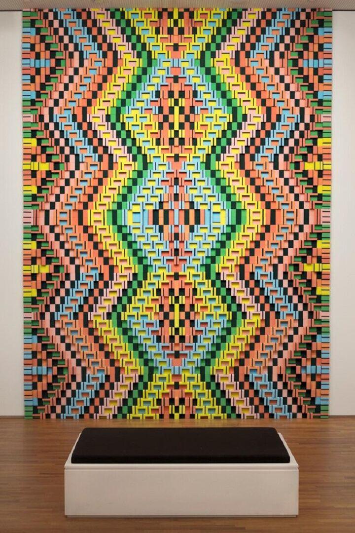 Sponge Carpet 3 was onderdeel van de tentoonstelling 'Hands on' in de National Gallery Singapore
